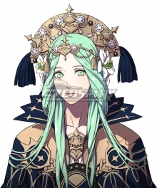 Fire Emblem: Three Houses Rhea Green Cosplay Wig