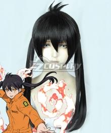 Fire Force Enen No Shouboutai Tamaki Kotatsu Black Cosplay Wig