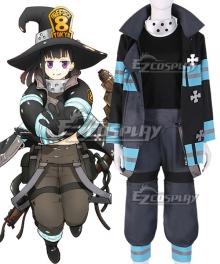 Fire Force Enen No Shouboutai Maki Oze Cosplay Costume - B Edition