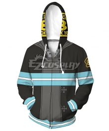 Fire Force Enen No Shouboutai Shinra Kusakabe Coat Hoodie Cosplay Costume