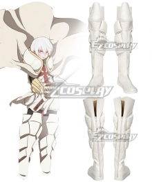 Fire Force Enen No Shouboutai Shou Kusakabe Silver Shoes Cosplay Boots