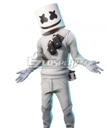 Fortnite Battle Royale DJ Marshmello Outfit Cosplay Costume