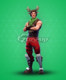 Fortnite Battle Royale Red-nosed Ranger Christmas Cosplay Costume
