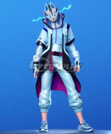 Fortnite Battle Royale Season 10 Catalyst Snowstorm Color Cosplay Costume