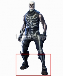 Fortnite Battle Royale Skull Trooper Halloween Black Shoes Cosplay Boots