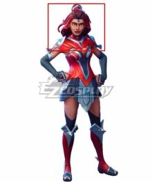 Fortnite Battle Royale Valor Red Cosplay Wig