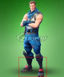 Fortnite Star Spangled Trooper Black Shoes Cosplay Boots