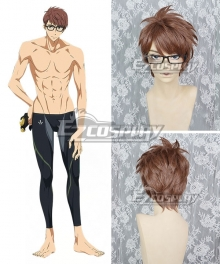Free! -Dive to the Future- Hiyori Tono Brown Cosplay Wig