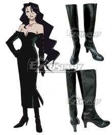 Fullmetal Alchemist Lust Black Shoes Cosplay Boots