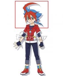Future Card Buddyfight Ace Yuga Mikado Red Blue Cosplay Wig