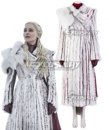 Game Of Thrones Season 8  Mother Of Dragons  Daenerys Targaryen White Cosplay Costume