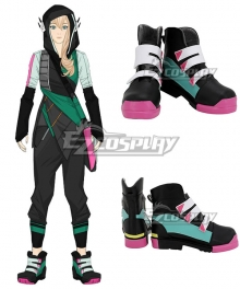 Gen Lock Cammie Maccloud Black Shoes Cosplay Boots