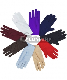 General Short Gloves Dozens of Colors Available Cosplay Accessory Prop