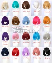 General Multicolor 30cm Short Internal Buckle Cosplay Wig