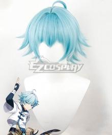 Genshin Impact Chongyun Blue Cosplay Wig