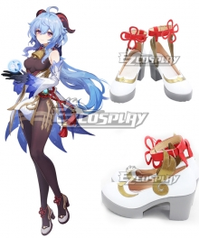 Genshin Impact Ganyu Silver Cosplay Shoes
