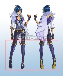 Genshin Impact Kaeya Female Blue Shoes Cosplay Boots