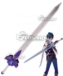 Genshin Impact Kaeya Traveler Jean Keqing Qiqi Xingqiu Cool Steel Sword Cosplay Weapon Prop