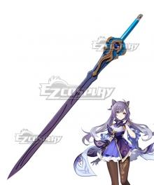 Genshin Impact Keqing Sword Cosplay Weapon Prop