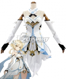 Genshin Impact Player Female Traveler Cosplay Costume