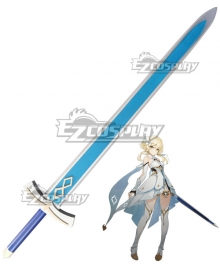 Genshin Impact Player Female Traveler Sword Cosplay Weapon Prop