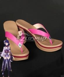 Genshin Impact Raiden Shogun Baal Black Cosplay Shoes