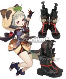 Genshin Impact Sayu Black Cosplay Shoes