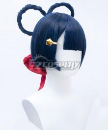Genshin Impact Xiangling Blue Cosplay Wig