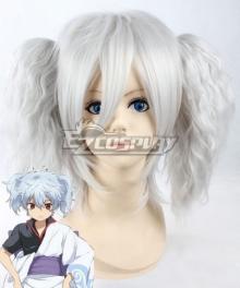 Gintama Female Sakata Gintoki Loli Silver Cosplay Wig