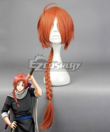 Gintama Kamui Red Orange Cosplay Wig