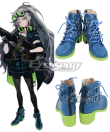 Girls' Frontline AEK-999 Blue Cosplay Shoes