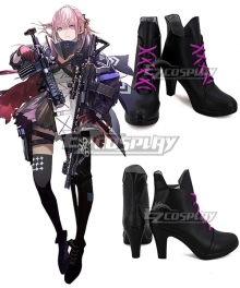 Girls Frontline AR15 Black Pink Cosplay Shoes
