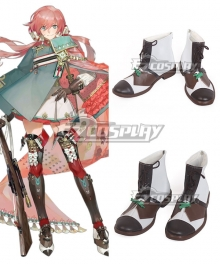 Girls Frontline Carcano 7.35mm Rifle Cartridge White Brown Cosplay Shoes