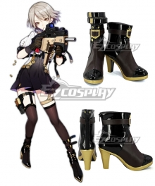 Girls' Frontline KRISS Vector Black Golden Shoes Cosplay Boots