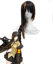 Girls Frontline M16A1 Black Orange Cosplay Wig