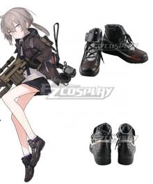 Girls Frontline M200 Black Brown Cosplay Shoes