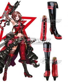 Girls' Frontline PM-06 Red Cosplay Shoes