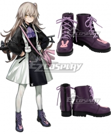 Girls' Frontline UMP45 Purple Pink Cosplay Shoes