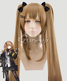 Girls Frontline UMP9 Brown Yellow Cosplay Wig Not Include Headwear