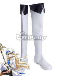 Goblin Slayer Priestess White Shoes Cosplay Boots