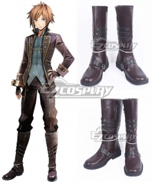 God Eater 2 Male Protagonist Captain Vice Captain Brown Shoes Cosplay Boots