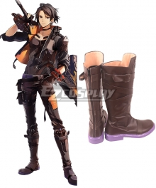 God Eater 3 Hugo Pennyworth Brown Shoes Cosplay Boots
