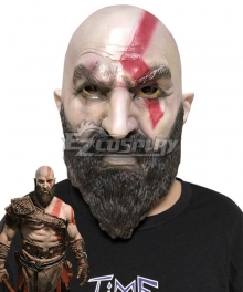 God of War 4 Kratos Halloween Mask Cosplay Accessory Prop