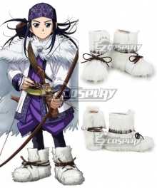 Golden Kamuy Asirpa White Shoes Cosplay Boots
