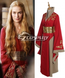Game Of Thrones Queen Cersei Lannister Red Luxury Dress Intriguing Cosplay Costume