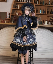 Gothic Lolita OP God Salvation Black Long Sleeve One Piece Lolita Dress