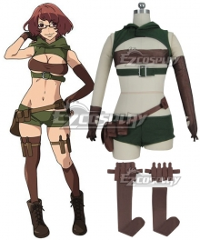 Grimgar of Fantasy and Ash Barbara Cosplay Costume
