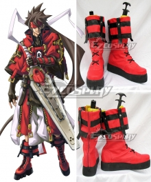Guilty Gear Sol Badguy Red Shoes Cosplay Boots