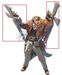 Guilty Gear STRIVE Leo Whitefang Cosplay Weapon Prop
