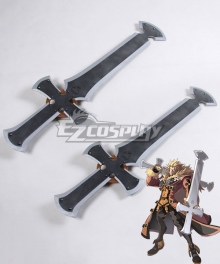 Guilty Gear Xrd Leo Whitefang Two Swords Cosplay Weapon Prop